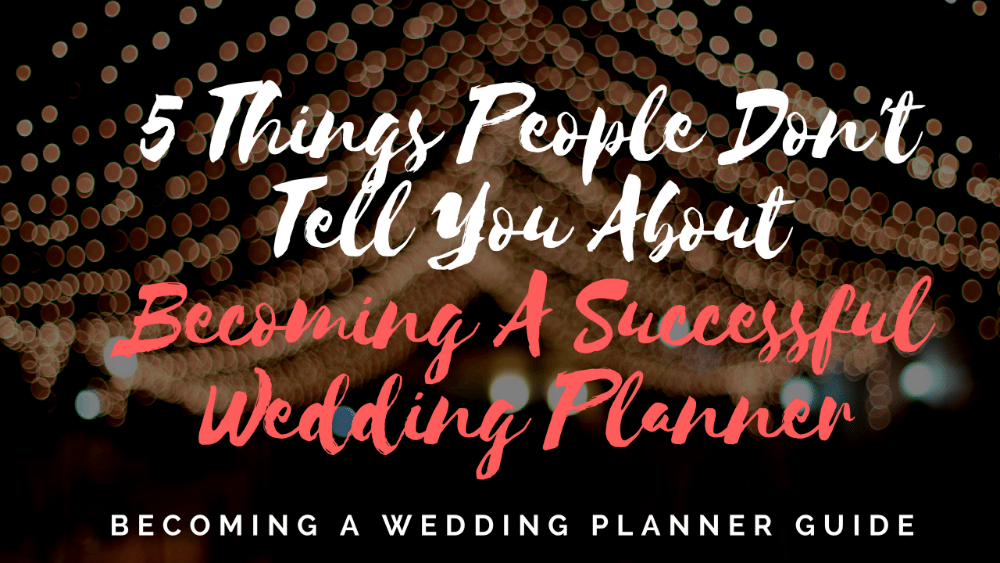 things they dont tell you about wedding planning