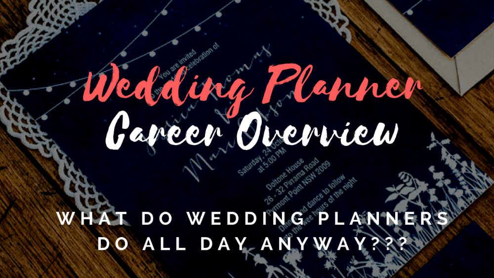 wedding planner career overview