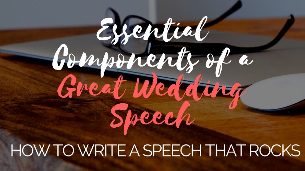 wedding speech order and content
