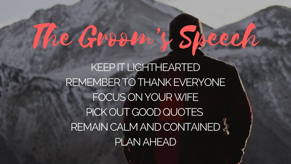 Grooms Speech Tips