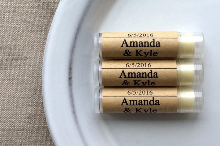 50 Personalized Lip Butter Favors