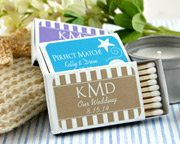 White Personalized Matches