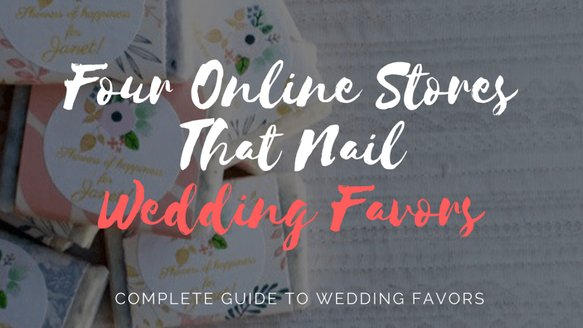 Four Online Stores That Nail Wedding Favors