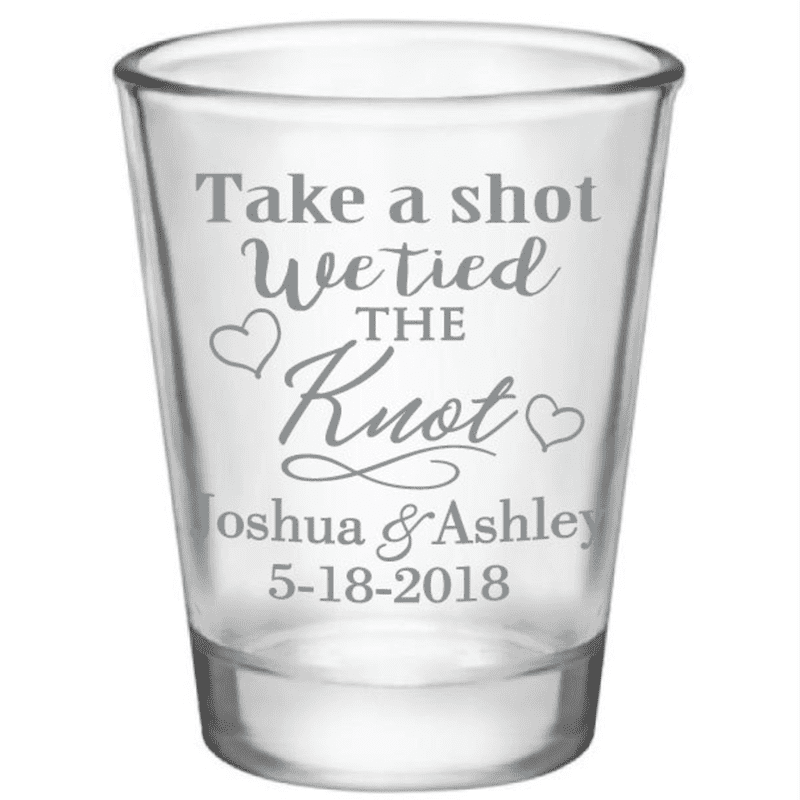 168 - Wedding Favors Shot Glasses Personalized