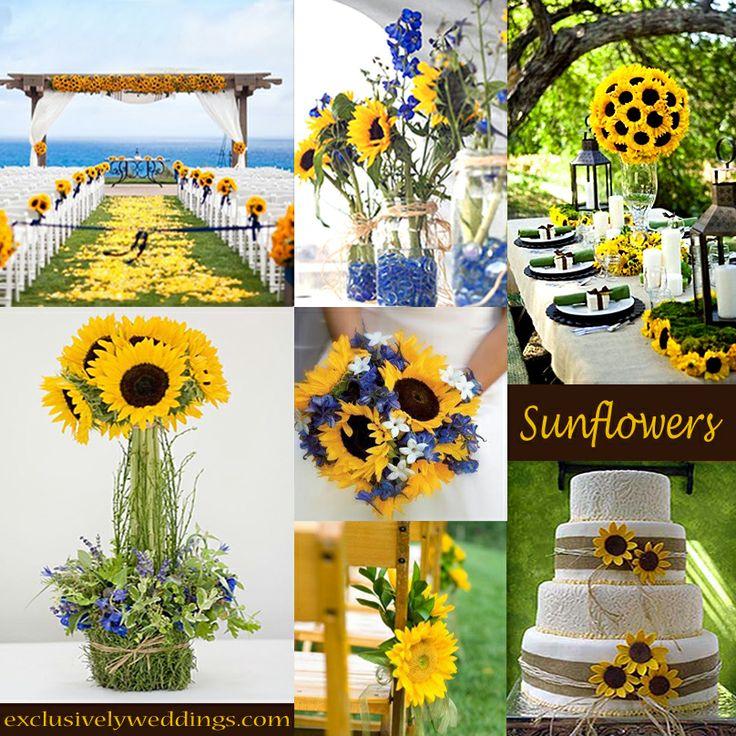 Sunflower Theme Weddings Topweddingsites