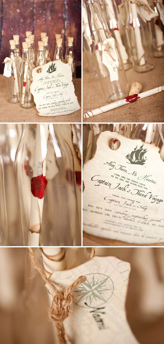 message in a bottle invitations perfect for your beach wedding - Message In A Bottle Wedding Invitations