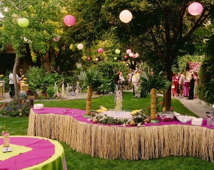 Pull off a hawaiian luau wedding reception anywhere with ease secrets to a successful backyard bash junglespirit Choice Image