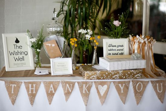 Tips on handling the wedding gift table for Table 6 gift card