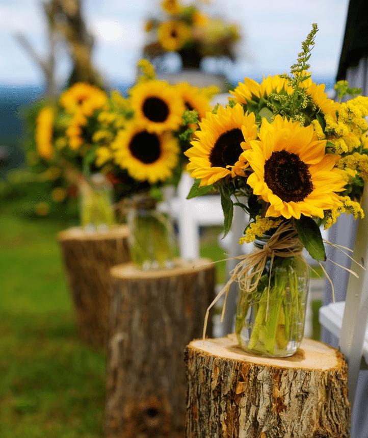 Diy Wedding Arch With Sunflowers: Sunflower Theme Weddings