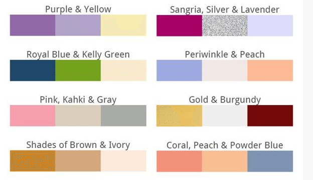 The Meanings Of Colors In Weddings
