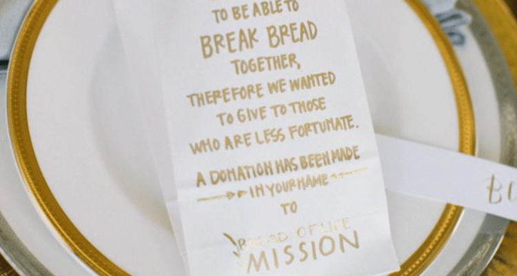 Donations As Wedding Favors