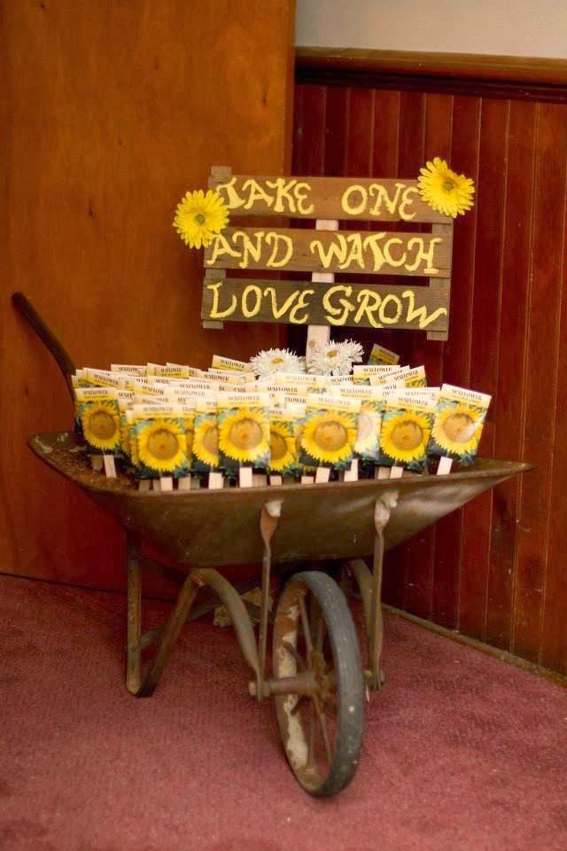 Sunflower theme weddings topweddingsites bright and flirty favors junglespirit Gallery