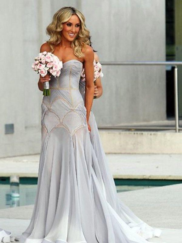Red, White & Blue: A Rainbow Tour of Wedding Gowns   Wedding Attire ...