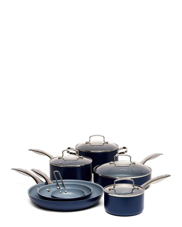 Fiesta Cobalt 11-Piece Healthy Ceramic Non-Stick Set from Century 21