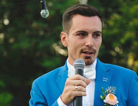 Handsome Best man Giving speech