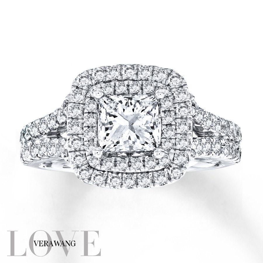 Vera Wang LOVE 2-¼ Carat tw Diamonds 14k White Gold Ring