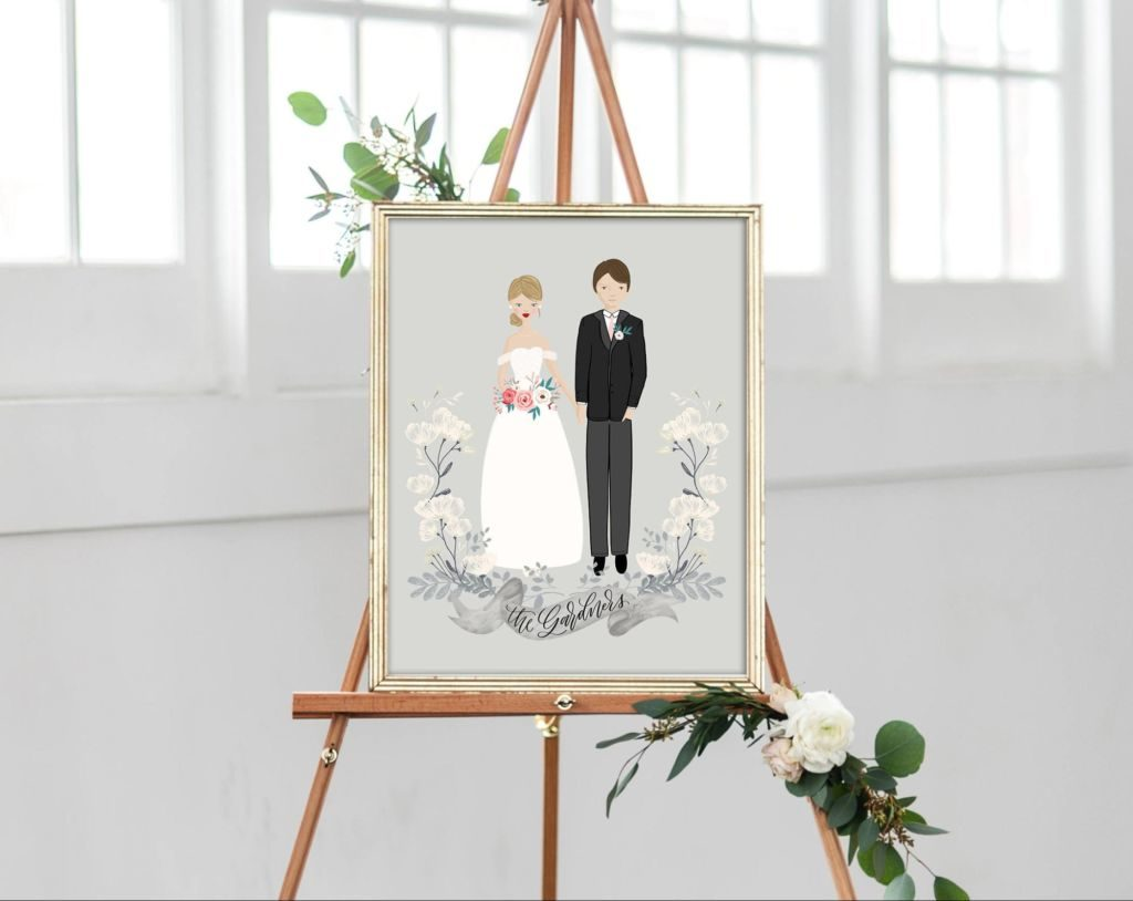 Custom Wedding Portrait