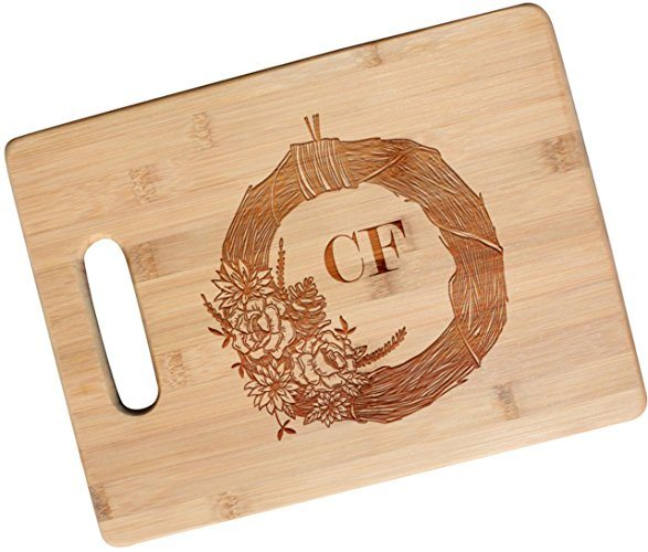 Festive Fall-Themed Bamboo Cutting Board