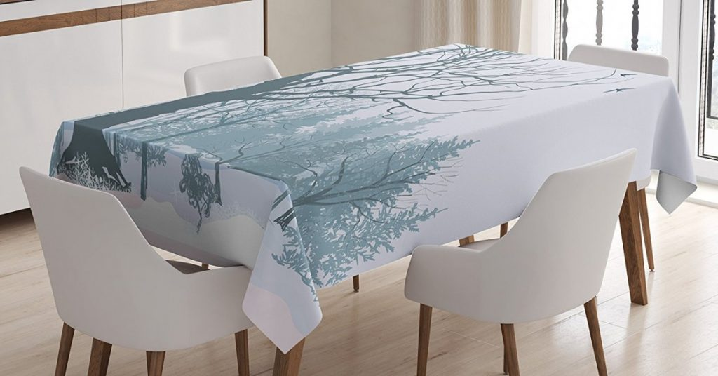 Scenic Winter Tablecloth