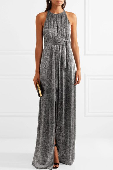 Halston Heritage Metallic Gown
