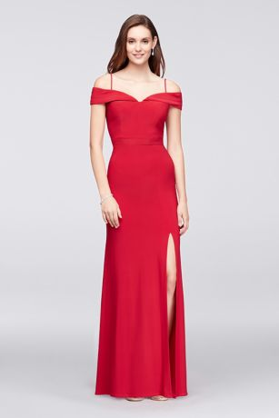 Off-The-Shoulder Jersey Gown / Morgan & Co