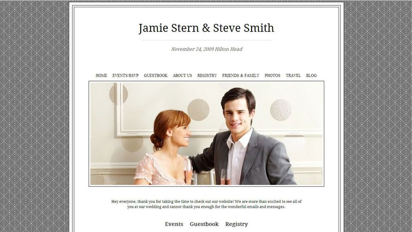 How to create an inexpensive wedding website junglespirit Images