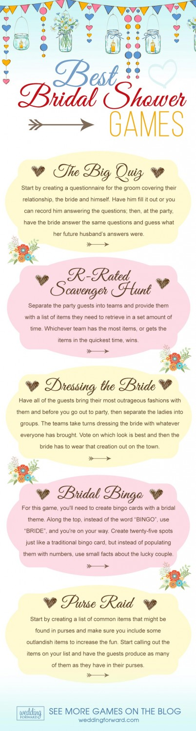 best friends and talking about men enjoying delicious treats laughing and playing games buy the way we have for you 7 popular bridal shower games