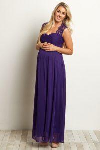 Lace Accent Chiffon Dress