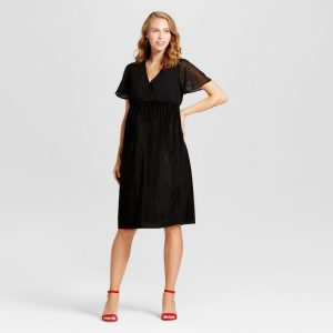 Rib Velvet Chiffon Dress