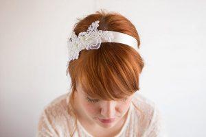 Lace-Embellished Headband