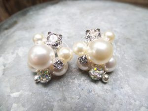 Cluster Pearl Studs