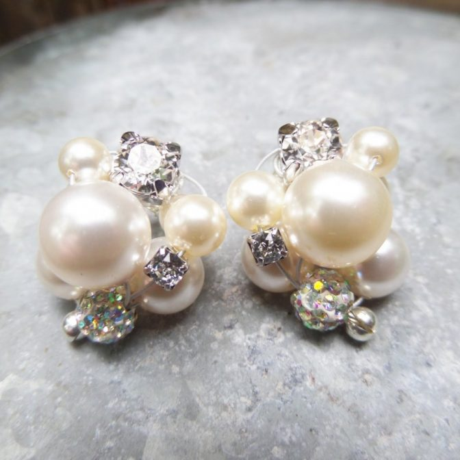 diy cluster pearls