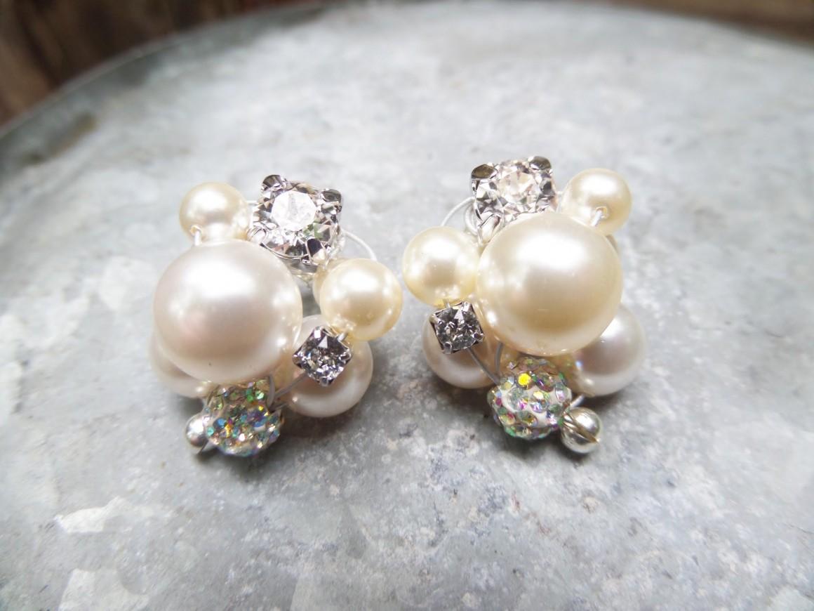 diy cluster pearls
