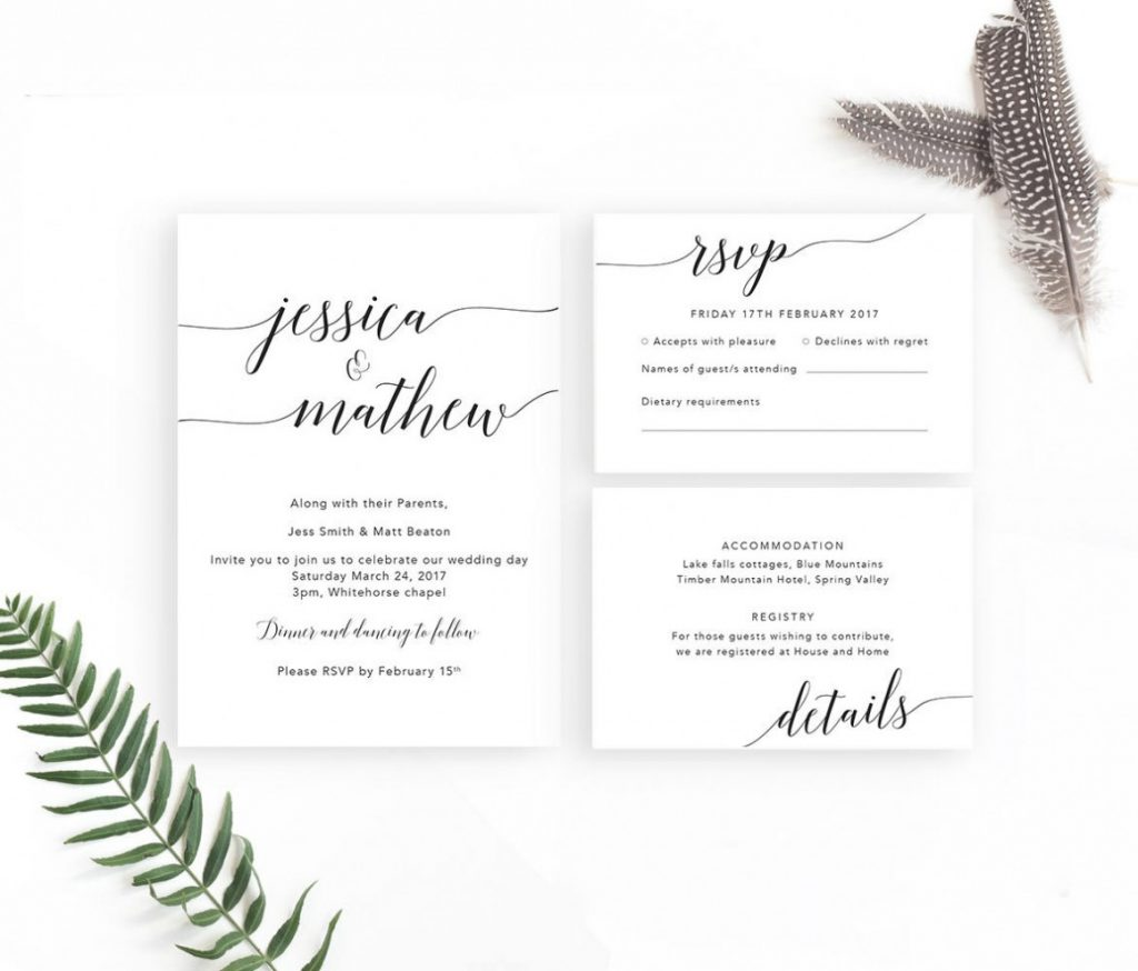 14 Modern Wedding Invitation Templates From Etsy Sellers