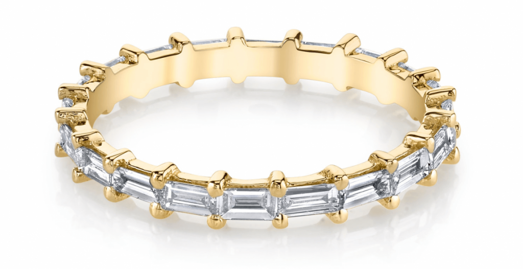 Baguette Eternity Ring by Lizza Mandler