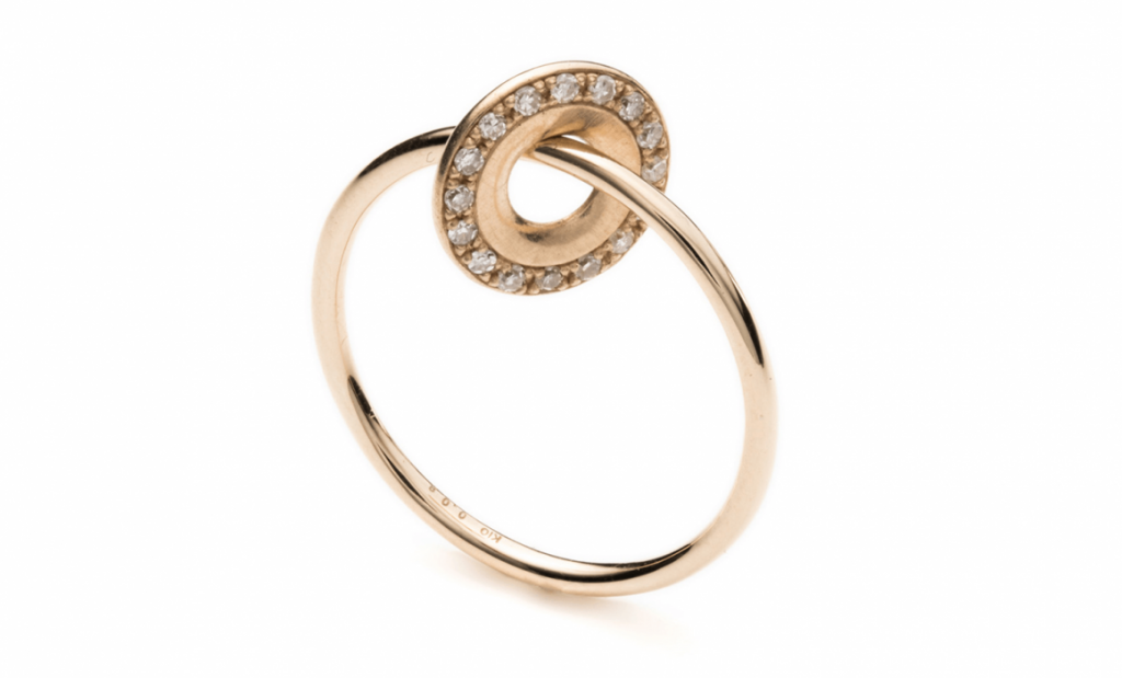Wheel of Fortune Diamond Ring by Hirotaka