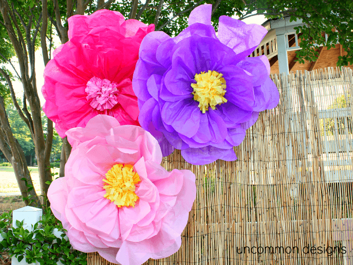 Guide how to make paper flowers for your wedding decorations giant tissue paper flowers from uncommon designs mightylinksfo
