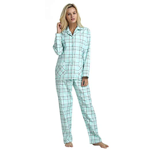 GLOBAL Plaid Flannel Pajama Set