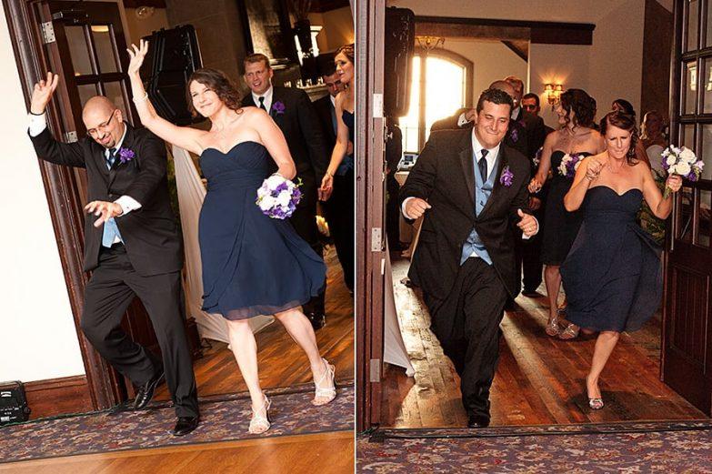 Bridal Party making a memorable entrance
