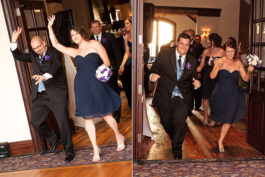 Bridal Party making a memorable entrance