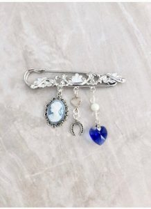 something old something new something borrowed something blue bridal brooch