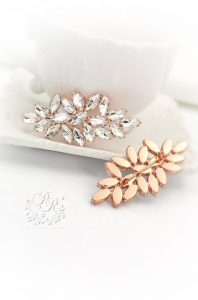 rose gold bridal brooch