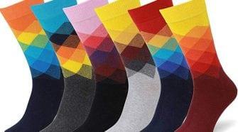 patterned dress socks