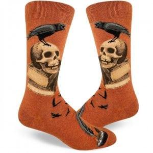 nevermore Edgar allen poe dress socks
