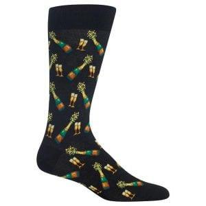 champagne dress socks