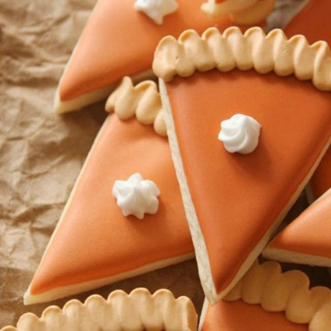 pumpkin pie slice sugar cookies recipe