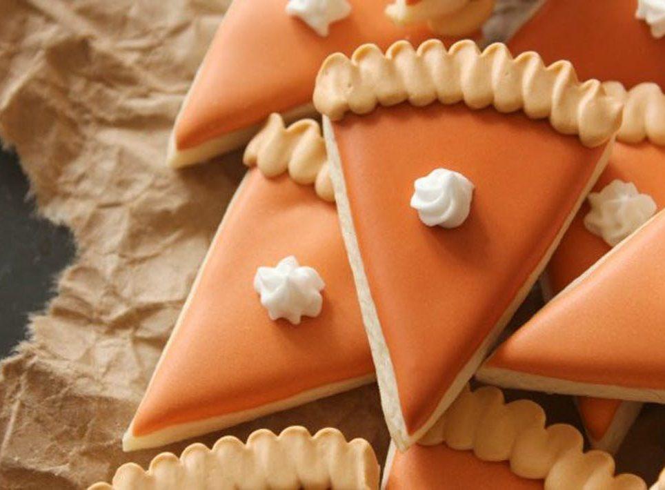 pumpkin pie slice sugar cookies recipe