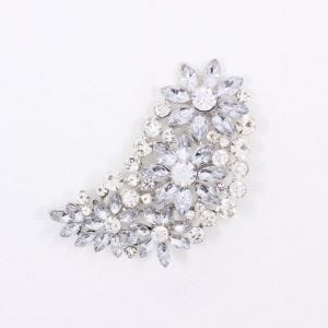 clear rhinestone bridal brooch