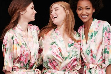bridesmaids in gifted robes