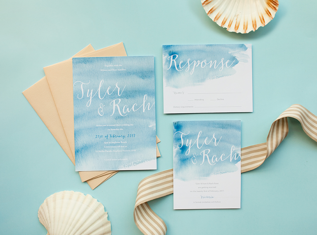 planning your summer beach wedding stationery stationary